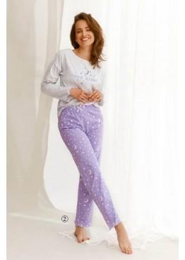 Пижама с брюками 2575 21/22 LIVIA св.серый+фиолетовый, Taro (Польша)
