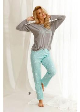 Пижама с брюками 2575 21/22 LIVIA св.серый+мята, Taro (Польша)