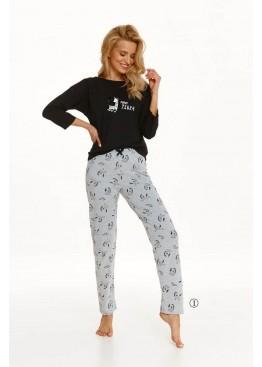 Пижама с брюками 2581 21/22 IDA черный+серый, Taro (Польша)