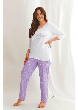 Пижама с брюками 2602 21/22 ISABEL св.серый+фиолетовый, Taro (Польша)