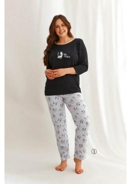 Пижама с брюками 2610 21/22 VESTA черный+серый, Taro (Польша)