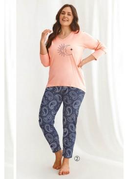 Пижама с брюками 2611 21/22 OMENA св.розовый+синий, Taro (Польша)