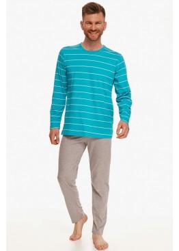 Пижама с брюками 2639/2640 21/22 HARRY бирюзовый+серый, Taro (Польша)