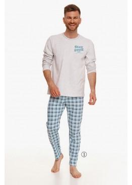 Пижама с брюками 2656 21/22 Mario белый+голубой, Taro (Польша)