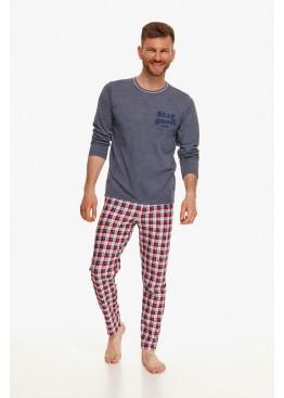 Пижама с брюками 2656 21/22 Mario графит+красный, Taro (Польша)