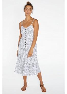 Платье пляжное 85716 белый+черный, Ysabel Mora (Испания)