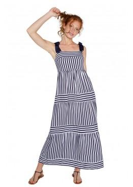 Платье пляжное 85796 т.синий+белый, Ysabel Mora (Испания)