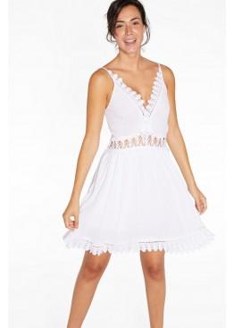 Платье пляжное 85818 белый, Ysabel Mora (Испания)