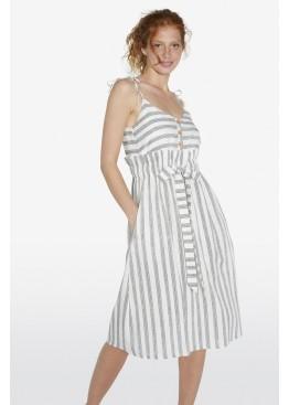 Платье пляжное 85822 белый+серый, Ysabel Mora (Испания)