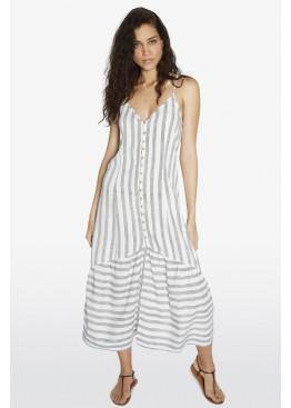 Платье пляжное 85823 белый+серый, Ysabel Mora (Испания)